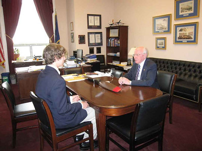 Will Puerner meets one-on-one with Rep. Vern Ehlers.
