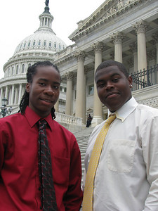 Tri-County Electric Cooperative 2010 delegates: Justin and Devante