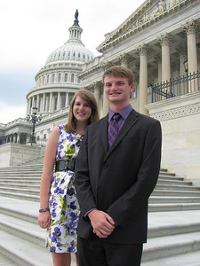 Blue Ridge Electric Cooperative 2010 delegates: Anna Leigh and Andrew