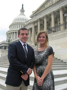 Mid-Carolina Electric Cooperative 2010 delegates: Nick and Savannah