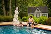 Hildy, Dan and Carly in pool