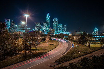 Charlotte City Skyline night scene