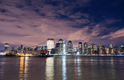 New York City skyline at Night Lights, Midtown Manhattan