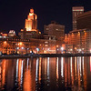 Providence, Rhode Island Skyline at night