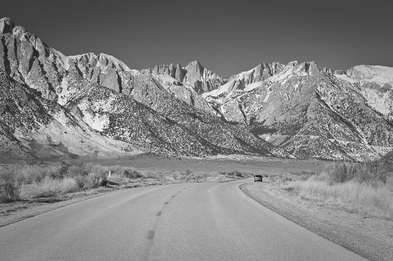 The road to Whitney Portal.
