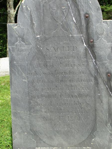 Amos Fortune's gravestone.