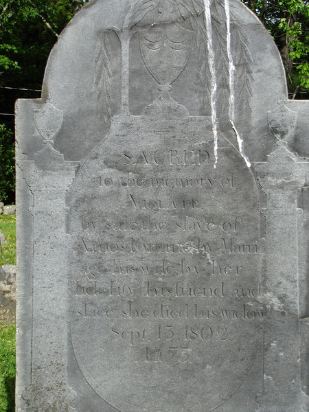 Violet's gravestone.