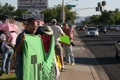 09-26-2010 McCain Debate and Anti-war Demonstration