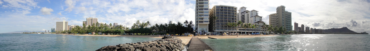 Panoramic View of Waikiki from jetty