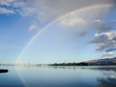 Rainbow Over The USS Arizona