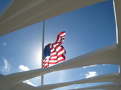 Flag at USS Arizona Memorial