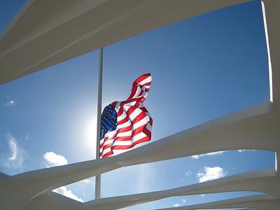 Flag at USS Arizona Memorial