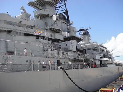 USS Missouri Port Side