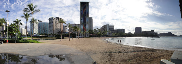 Panorama of Hilton Hawaiian Village.