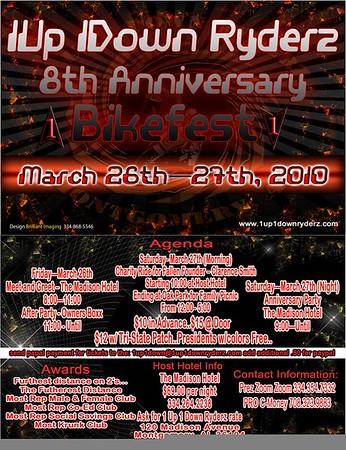 1up 1Down Ryderz 8th Anniversary Bikefest