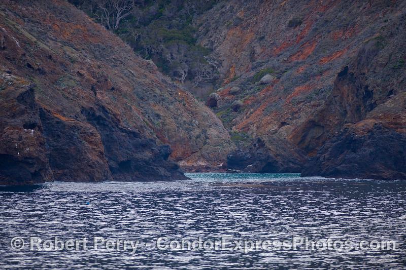 A secluded cove - Santa Cruz Island.