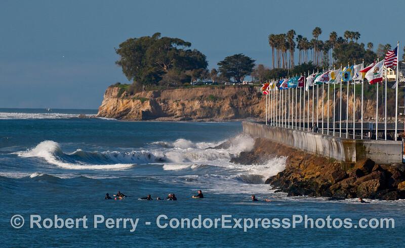 The breakwater surfing crew.