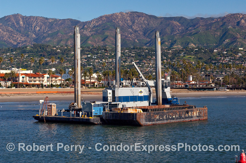 Dredging activity - Santa Barbara Harbor.