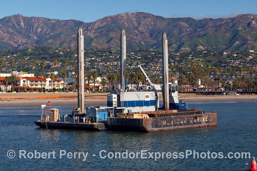 Dredging activity - Santa Barbara Harbor.