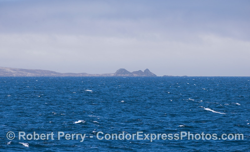 The northwest end of San Miguel Island including Castle Rock.