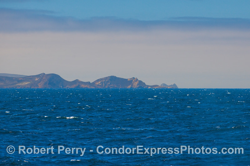 Harris Point and, in back, Castle Rock, San Miguel Island.