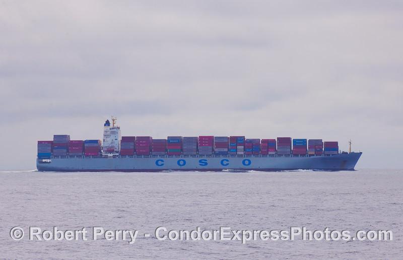 vessel container Cosco Vancouver 2010 09-18 So Calif Bight - 185