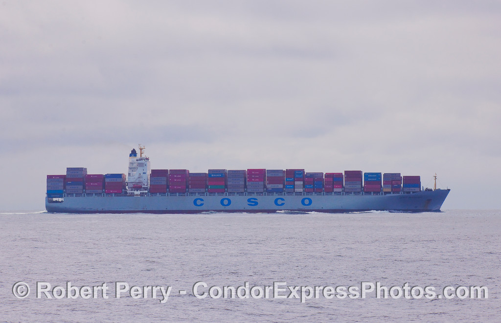 vessel container Cosco Vancouver 2010 09-18 So Calif Bight - 185