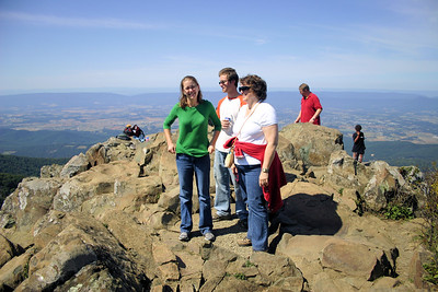 At the summit of Stony Man Mountain