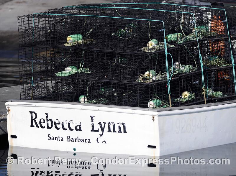 Lobster traps Panulirus interruptus 2010 10-02 SB Harbor - 002
