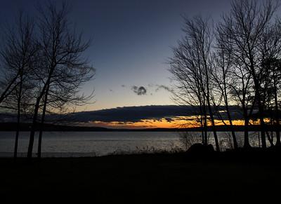 Sunset over Lake Winisquam in Laconia, NH