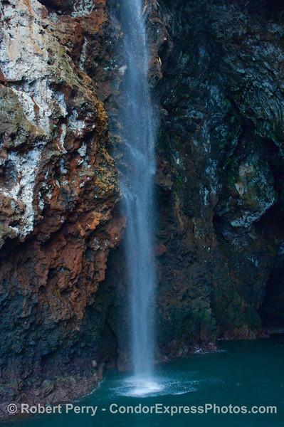 Santa Cruz Island waterfall.
