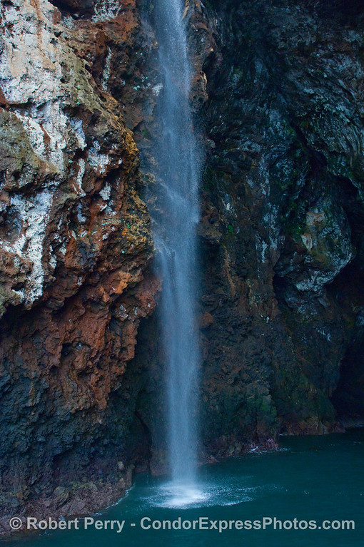 Santa Cruz Island waterfall.
