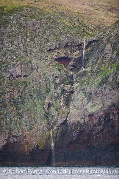 Waterfall, Santa Cruz Island.