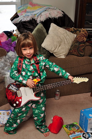 Anya with her Paper Jamz Guitar
