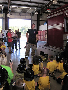 Shawn the Fireman shows the kids how they put on their uniform when it's time to go!  They have less than 2 minutes, but most of the guys can get geared up in 1 minute and 10 seconds.