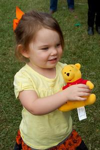 Anna won a Pooh Bear at the St. Aloysius Parish Fair!