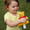 Anna won a Pooh Bear at the St. Aloysius Parish Fair!
