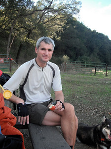 Sunol and our break time before the Mr. Mission Peak climb. Not so bad, just looong.