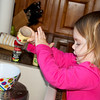 I gave Anna some of the old / very expired spices in the cabinet to play with one afternoon.