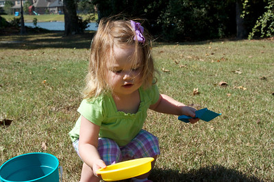 Digging up grass like Daddy (or trying to, anyway!)