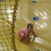 in the bouncy pit