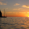 Hello World at sunrise at Punta Pulpito. (thank you neighbors - we were still sleeping)
