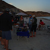 Potluck on the beach at San Juanico.