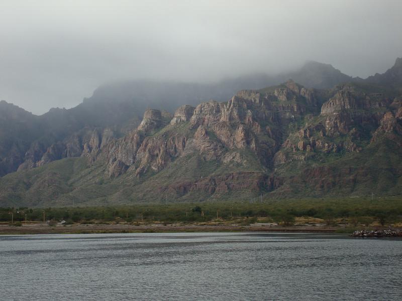 A rare cloudy day in Puerto Escondido.