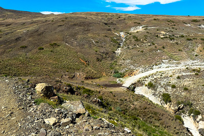 After Sehonghong, the track leads down into the valley leading to Mathabeng Pass