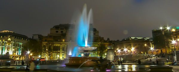 Loved Trafalgar Square at night!