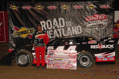 Earl Pearson, Jr. in Victory Lane @ 34 Raceway