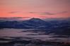 sunset mountain lights town scotland