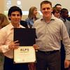 Leonard Gooz and Ivan Leavens with Diploma