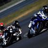 4-5 September, 2010, Millville, New Jersey USA<br /> Sun. Superbike winner Josh Hayes leads Chris Peris and Tim Bemisderfer<br /> ©2010, Gregg Feistman, USA<br /> LAT Photographic